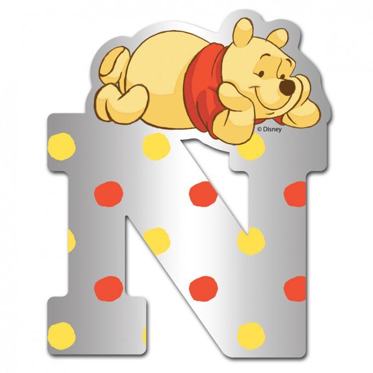 Medvídek Pú zrcátko 014N, rozměry 9 x 7 cm | Dekorace do dětských pokojů Dekorace Medvídek Pú