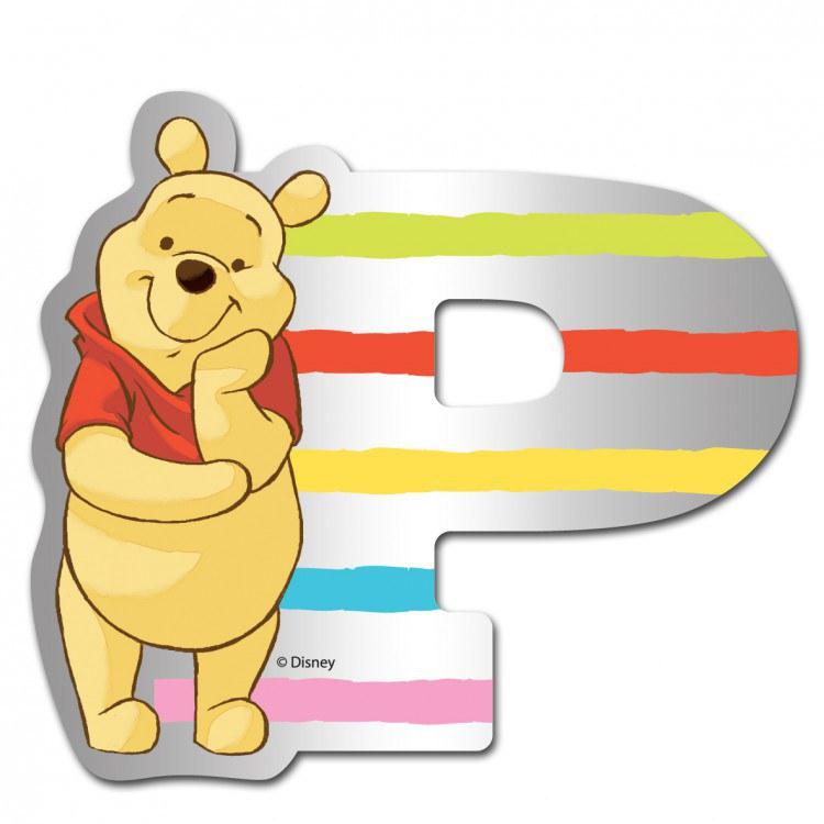 Medvídek Pú zrcátko 016P, rozměry 9 x 7 cm | Dekorace do dětských pokojů Dekorace Medvídek Pú