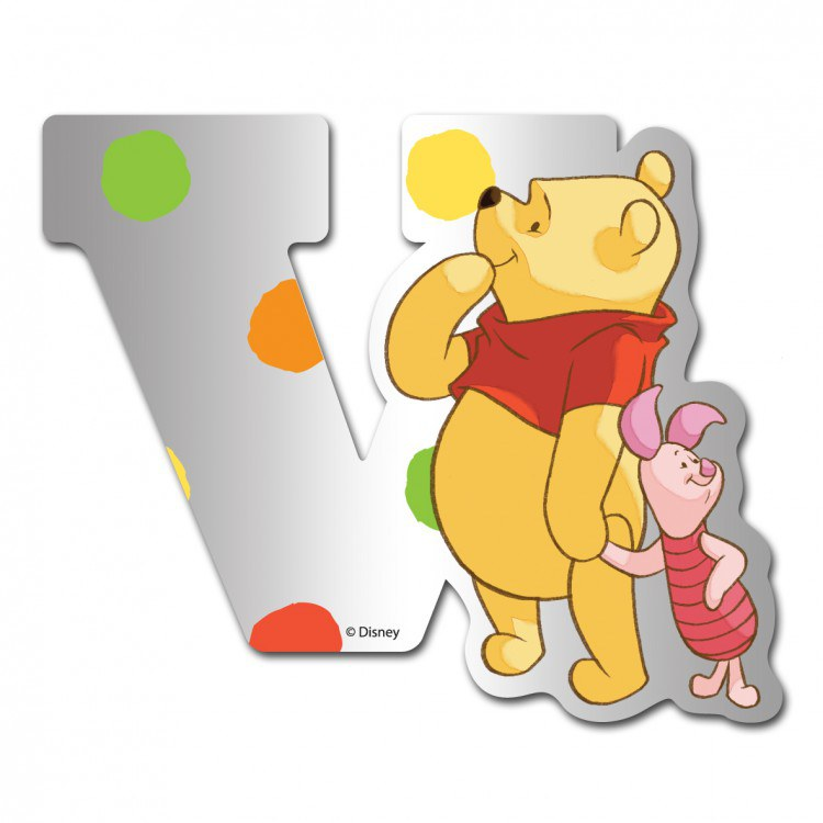 Medvídek Pú zrcátko 022V, rozměry 9 x 7 cm | Dekorace do dětských pokojů Dekorace Medvídek Pú
