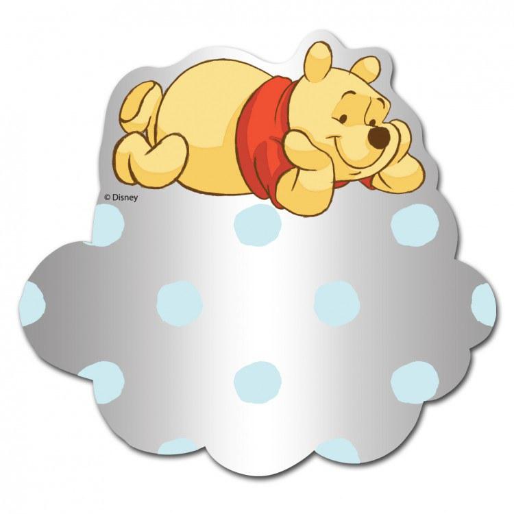 Medvídek Pú zrcátko S039, rozměry 9 x 7 cm | Dekorace do dětských pokojů Dekorace Medvídek Pú
