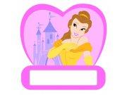 Jmenovka na dveře Princezny D48312, rozměry 12 x 12 cm Dekorace Princezny