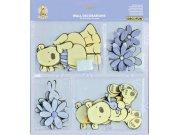 Mini pěnové figurky Medvědi D25801, 24 ks Dekorace Medvědi