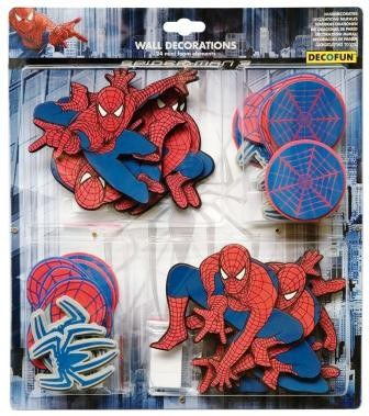 Mini pěnové figurky Spiderman D23869, 24 ks   Dekorace do dětských pokojů Dekorace Spiderman