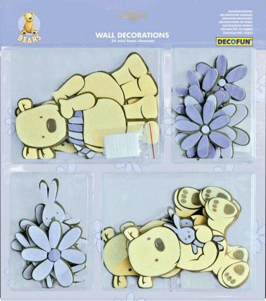 Mini pěnové figurky Medvědi D25801, 24 ks - Dekorace Medvědi
