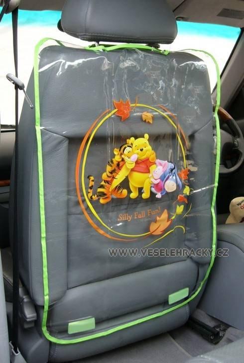 Medvídek Pú - Ochrana předních sedadel (medvídek) - Kapsáře do auta