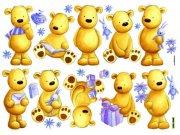 Nálepky Medvědi D40501, rozměry 70 x 50 cm Dekorace Medvědi