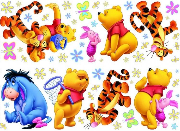 Nálepky Medvídek Pú D40223, rozměry 70 x 50 cm | Dekorace do dětských pokojů Dekorace Medvídek Pú