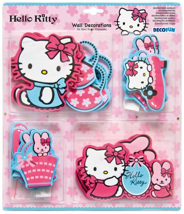 Mini pěnové figurky Hello Kitty D23860, 24 ks - Dekorace Hello Kitty
