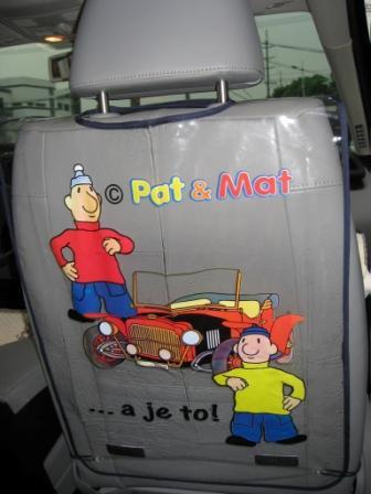 Ochrana předních sedadel Pat a Mat PMO1, rozměry 65 x 45 cm | Autodoplňky pro děti Kapsáře do auta