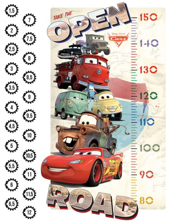 Maxi nálepka Cars metr DK-0894, rozměry 85 x 65 cm - Dekorace Cars