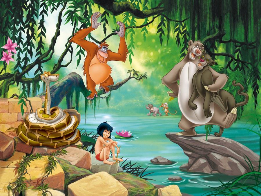 Fototapeta Kniha Džunglí FTDNXXL-XXL5045, rozměry 360 x 270 cm - Fototapety dětské vliesové