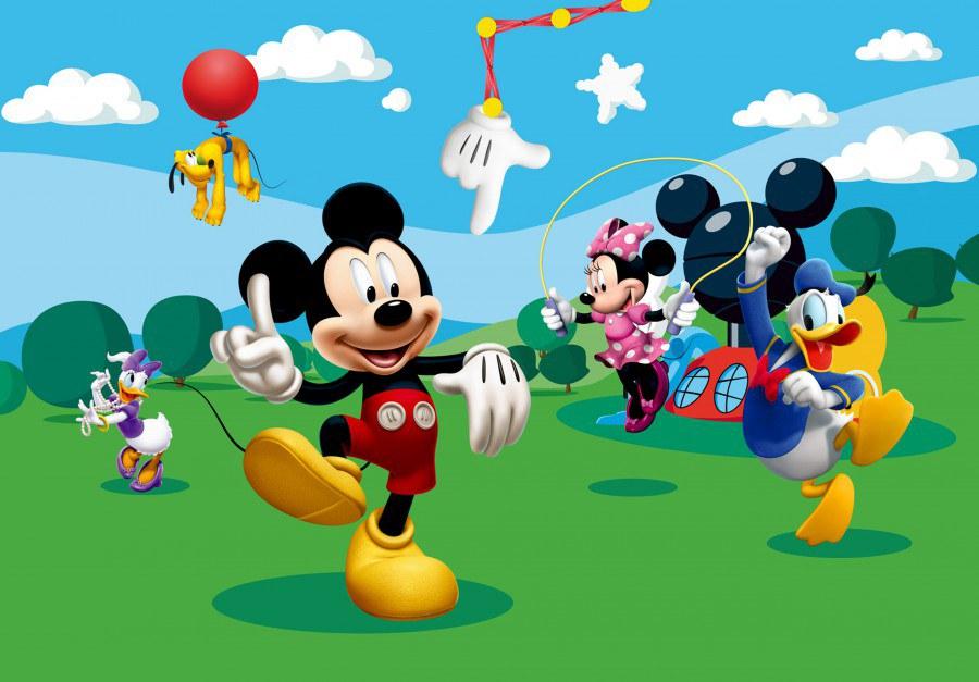 Dětská vliesová fototapeta Mickey Mouse FTDN5057, rozměry 360 x 270 cm | Fototapety pro děti Fototapety dětské vliesové