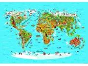 Fototapeta Mapa Světa FTNS-2441, rozměry 360 x 270 cm Fototapety pro děti - Fototapety dětské vliesové