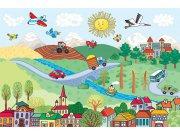 Fototapeta Vesnice FTNXXL-2483, rozměry 360 x 270 cm Fototapety pro děti - Fototapety dětské vliesové