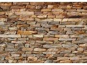 Fototapeta Hnědá kamenná zeď FTNS-2481, rozměry 360 x 270 cm Fototapety vliesové