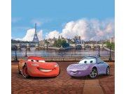 Fotozávěs Cars v Paříži FCPXXL-6025, 280 x 245 cm Závěsy do dětského pokoje