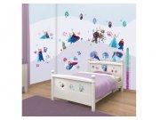 Samolepicí dekorace na zeď Walltastic Frozen 43916, 70 ks Dekorace Ledové Království