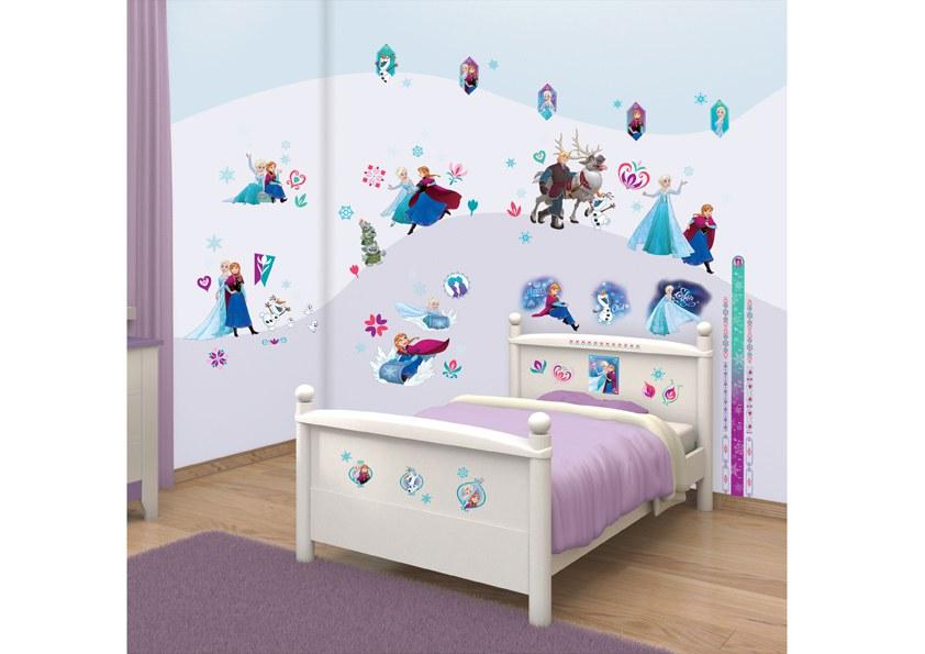 Samolepicí dekorace na zeď Walltastic Frozen 43916, 70 ks - Dekorace Ledové Království