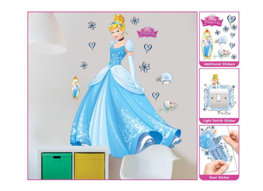 Samolepicí dekorace Walltastic Princezna Popelka 44340 - Dekorace Princezny