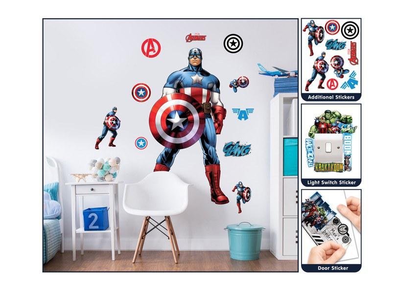 Samolepicí dekorace Walltastic Kapitán Amerika 44272 - Dekorace Avengers