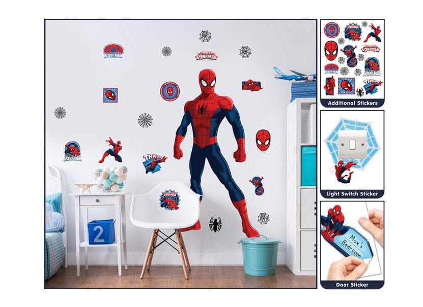 Samolepicí dekorace Walltastic Spiderman 44302 - Dekorace Spiderman