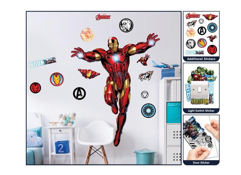 Samolepicí dekorace Walltastic Iron Man 44296 - Dekorace Avengers