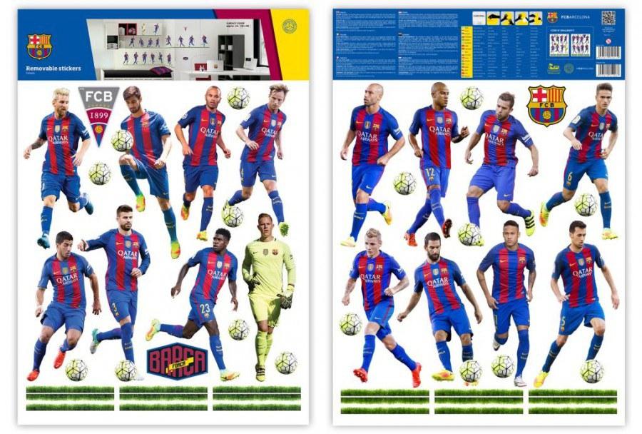 Maxi nálepka FC Barcelona team - Dekorace Fotbalové