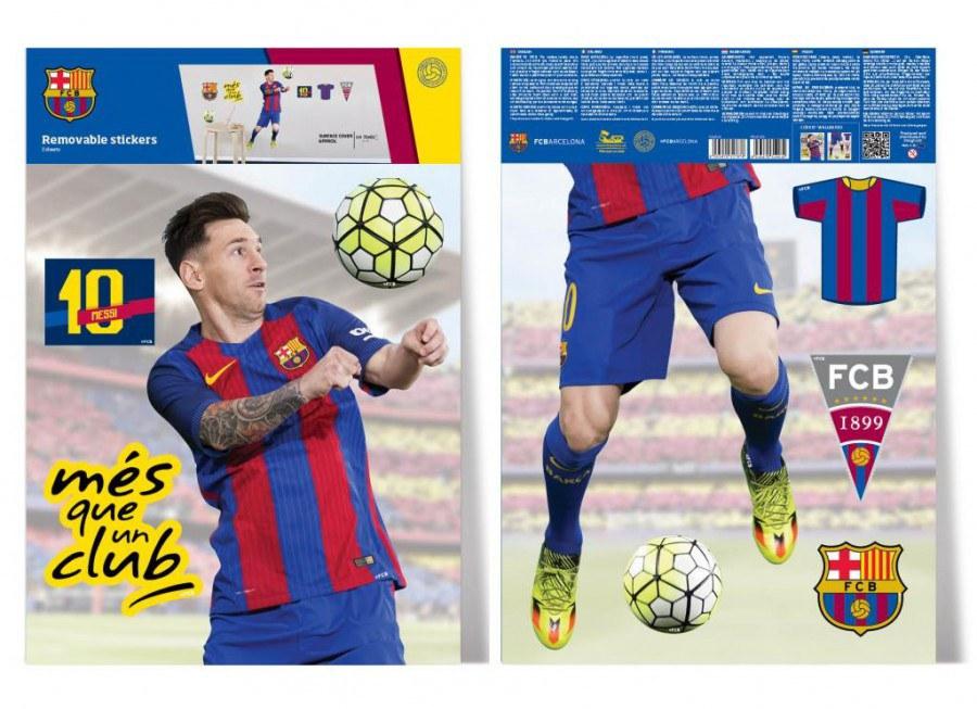 Dekorační nálepka FC Barcelona Messi - Dekorace Fotbalové