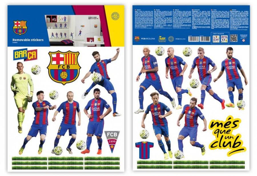 Dekorační nálepka FC Barcelona team - Dekorace Fotbalové