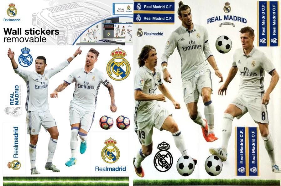 Maxi nálepka Real Madrid - Ronaldo - Piqué - Dekorace Fotbalové