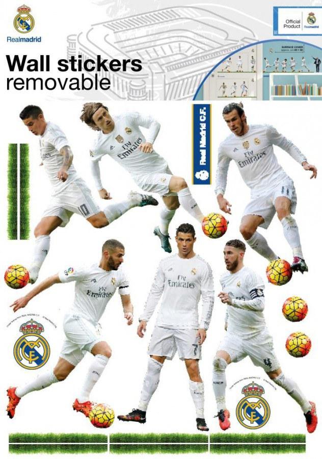 Dekorační nálepka Real Madrid team - Dekorace Fotbalové