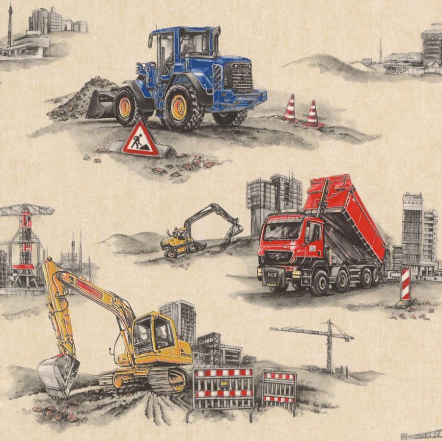 Tapety na zeď Kids & Teens stavební stroje 293500 - Tapety Kids and Teens