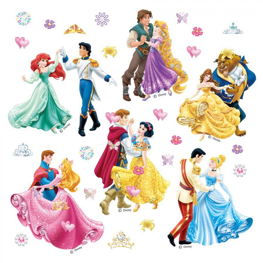 Samolepky na zeď Tančící Princezny DKS-1081 - Dekorace Princezny