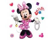 Samolepky na zeď Minnie a šperky DKS-1084 Dekorace Mickey Mouse