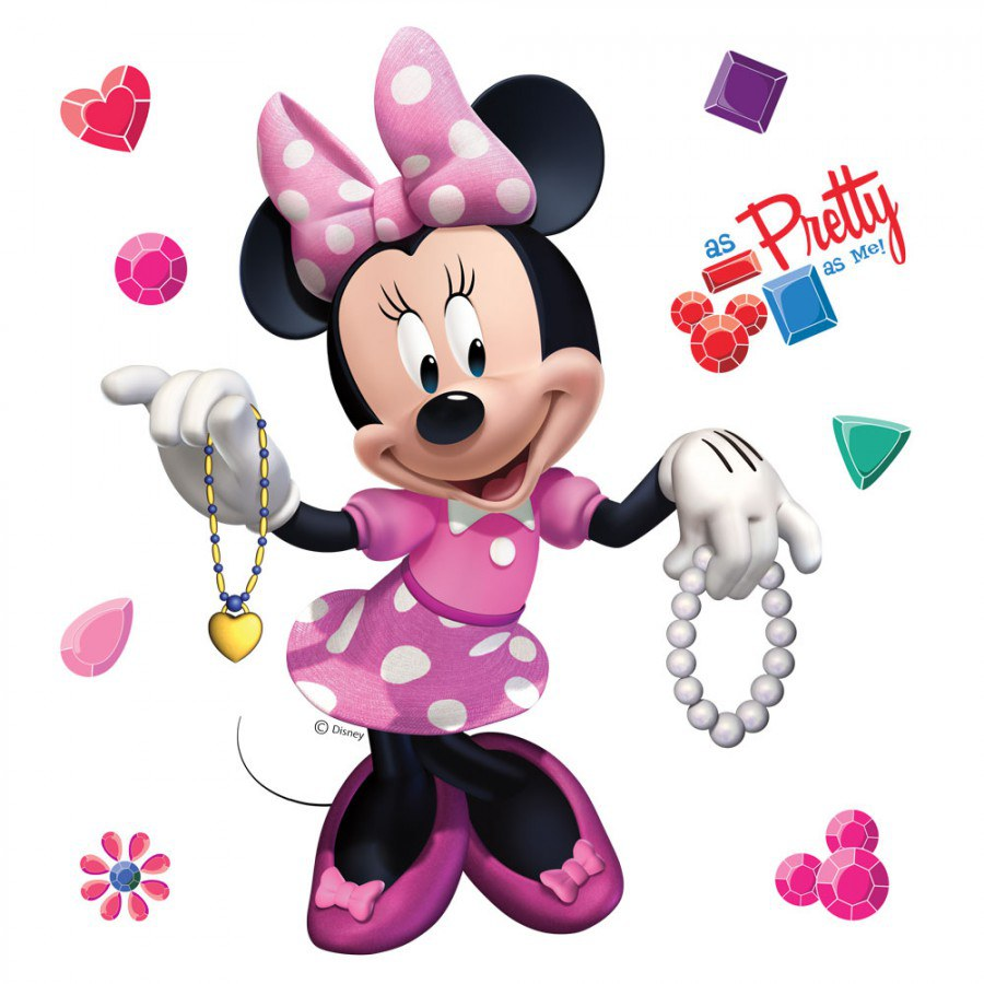 Samolepky na zeď Minnie a šperky DKS-1084 - Dekorace Mickey Mouse