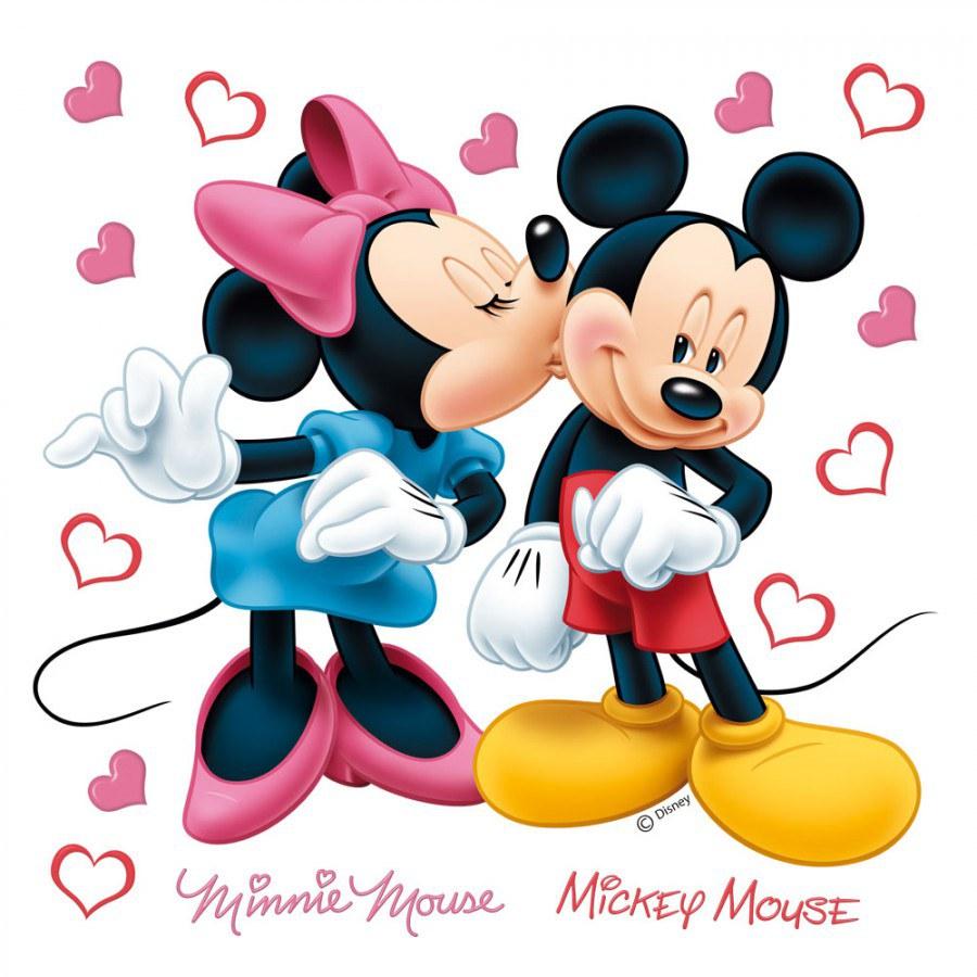 Samolepky na zeď Minnie a Mickey DKS-1085 - Dekorace Mickey Mouse