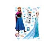 Samolepky na zeď Anna a Elsa DKS-1095 Dekorace Ledové Království