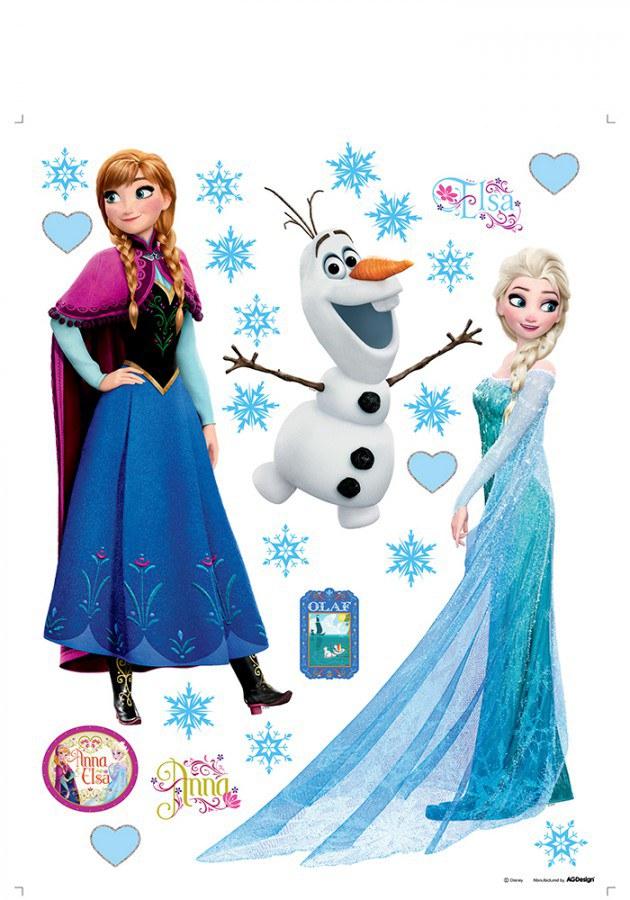 Samolepky na zeď Anna a Elsa DKS-1095 - Dekorace Ledové Království