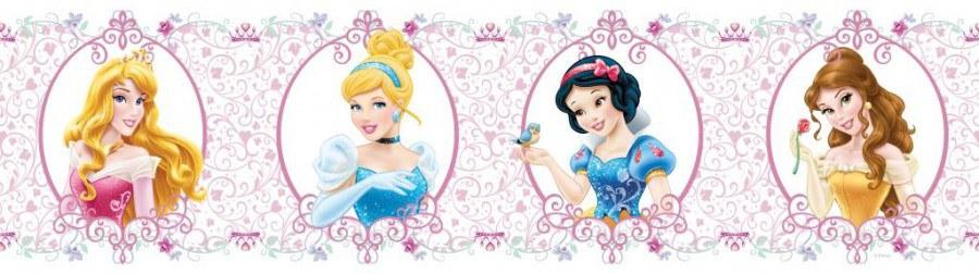 Samolepicí bordura Princess Pink WBD8065 - Dekorace Princezny