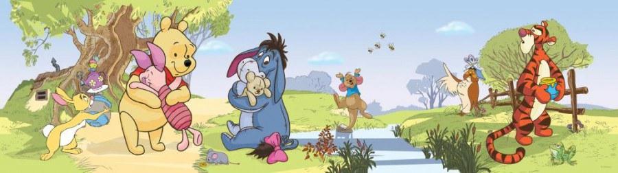 Samolepicí bordura Winnie The Pooh Adventure WBD8070 - Dekorace Medvídek Pú