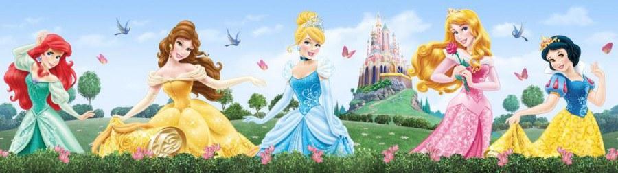 Samolepicí bordura Princess WBD8072 - Dekorace Princezny