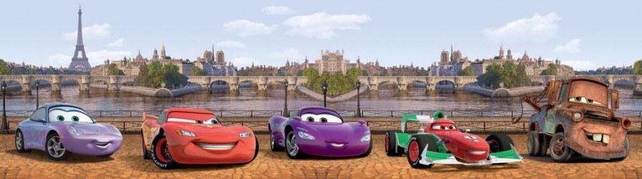 Samolepicí bordura Cars v Londýně WBD8081 - Dekorace Cars