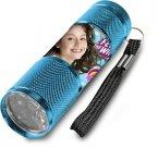 Dětská hliníková LED baterka Soy Luna azurová Hračky a doplňky - baterky a lampičky