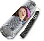 Dětská hliníková LED baterka Soy Luna stříbrná Hračky a doplňky - baterky a lampičky