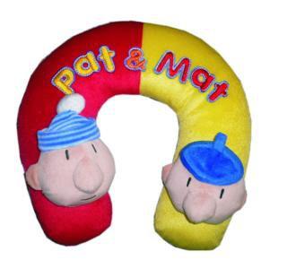 Cestovní polštářek nákrčník Pat a Mat - Opěrky hlavy do auta