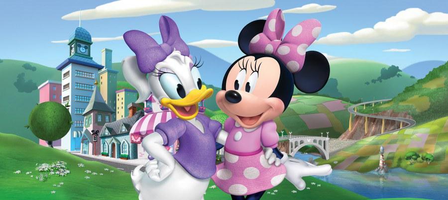 Fototapeta Minnie & Daisy FTDNH-5372, 202x90 cm - Fototapety dětské vliesové
