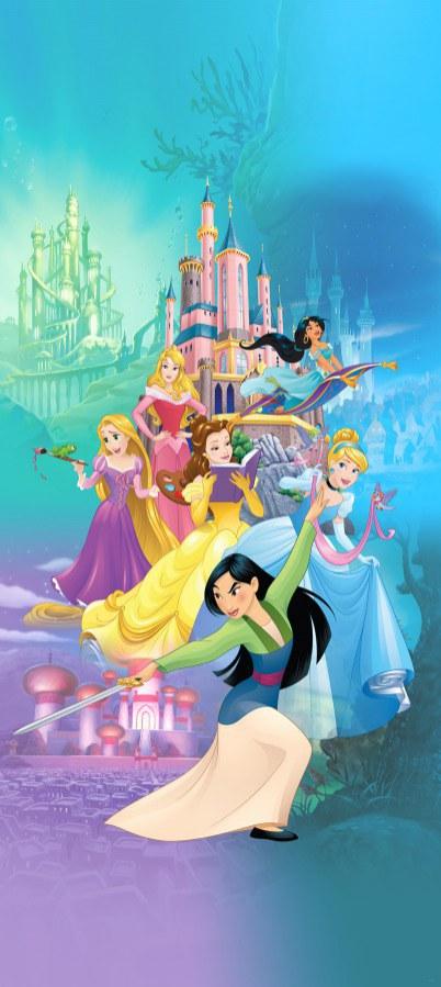 Fototapeta vliesová Disney Princezny FTDNV-5478, 90x202 cm - Fototapety dětské vliesové