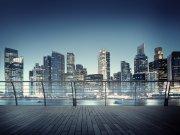 Fototapeta Pohled z terasy na město FTNXXL-2486, 360x270 cm Fototapety vliesové