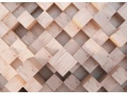 Fototapeta Abstrakce dřevěné kostky FTNXXL-2496, 360x270 cm Fototapety vliesové