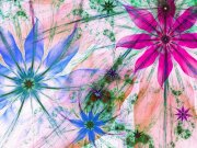 Fototapeta Siluety z květin FTNXXL-2492, 360x270 cm Fototapety vliesové